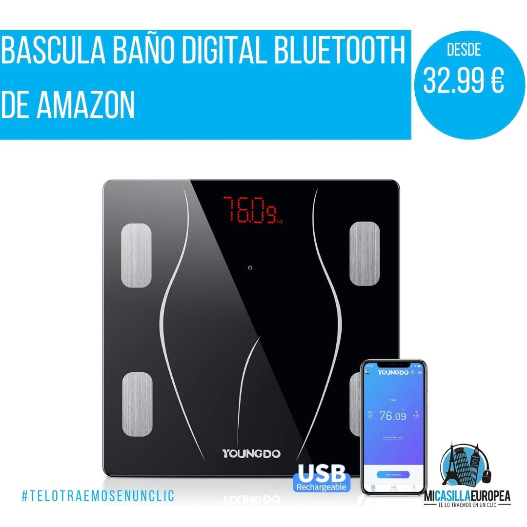 Báscula Baño Digital Bluetooth Inteligente